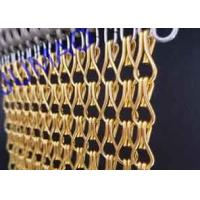 Buy cheap 10mm × 24mm Metal Chain Link Curtains Golden String For Wall Coverings product