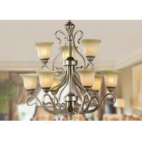 China Decorative 9 Light Large Wrought Iron Chandelier Italian Retro Style with Metal and glass on sale