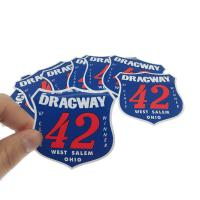 Buy cheap Vinyl Decal Printed Adhesive Sticker 0.12mm Bumper Stickers Custom Shape from wholesalers