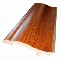 Buy cheap Decorative wood PVC skirting board for home from wholesalers