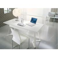 Buy cheap Modern White Table Desk Wood Veneer Top , Commercial White Writing Desk With Drawers from wholesalers