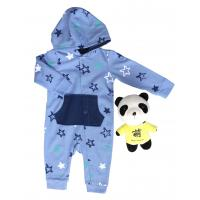 Buy cheap Windproof Solid Long Sleeve Onesies Skin Friendly With Cuff 65% Cotton 35% Polyester from wholesalers