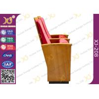 Buy cheap Luxury Decor Solid Wood Church Auditorium Seating Hidden Leg Audience Seating Chairs from wholesalers