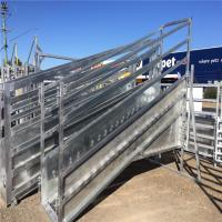 Buy cheap Galvanized  Adjustable Loading Ramp Galvanised Steel Material For Livestock from wholesalers