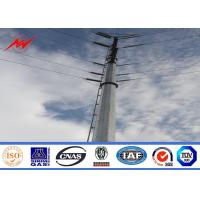 Buy cheap 132KV hot galvanization electrical power pole for electrical line from wholesalers