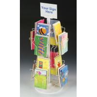 Buy cheap Custom Rotating Countertop Greeting Card Display Stands With Sign Clip 16 Pockets from wholesalers
