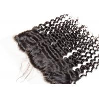 Buy cheap Deep Curly Wave 13*4 Virgin Hair Frontal With Natural Color Can Be Ironed from wholesalers