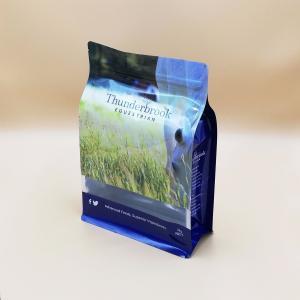 Buy cheap Flat Bottom Pet Food Packaging Bags With Matt Finish Gravure Printing product