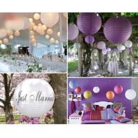 Buy cheap Chinese paper wedding balls birthday ornament led lanterne mariage pastel party decoration from wholesalers