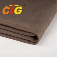 Buy cheap Width 145cm Weight 280gsm Waterproof Sofa Suede Fabric With TC Backing product