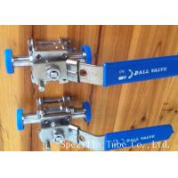 Buy cheap Dn25 Tp316l Threaded Stainless Steel Ball Valve Sanitary Bpe Valves Easy Operation from wholesalers