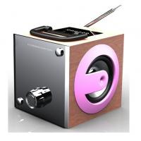 Buy cheap Fashion design mp3 player portable speaker built in FM radio USB SD from wholesalers