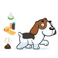 Buy cheap The best seller  printed dog poop bag for dog poo from wholesalers