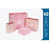 Buy cheap Custom Boutique Shopping Bags 100% Recyclable Gift Paper Bags Pink Color from wholesalers