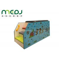 Animal Party Pediatric Examination Table , Cartoon Pediatric Exam Table With Cabinet