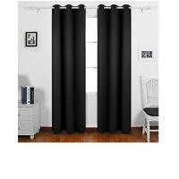 Buy cheap Solid Black Color Custom Window Curtains Quick Delivery For Home And Office from wholesalers