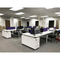 Buy cheap Fashion Office Desk Partitions With Cabinets Veneer Finish Anti - Scratch from wholesalers