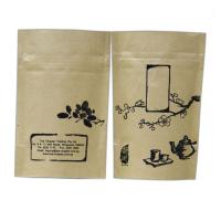 Buy cheap Stand Up Kraft Paper Snack Bag Packaging / Peanut Packing Bag With Zipper Top from wholesalers