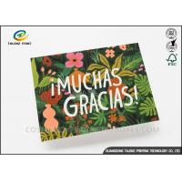 Buy cheap Colorful Paper Greeting Cards Green Plant Printing With Voice Recording Module from wholesalers