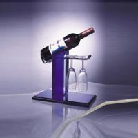 Buy cheap Eco-Friendly Acrylic Wine Display Holder For 1 Bottle , 2 Glasses from wholesalers
