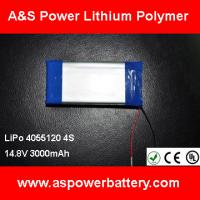 Buy cheap High Capacity 14.8V 3000mAh Lipo Battery Pack For EV from wholesalers