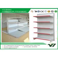 Buy cheap Custom white gondola shelving , display shelves for retail stores 2 - 8layers from wholesalers