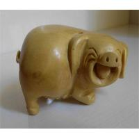 China Boxwood carved pig on sale
