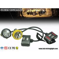 Buy cheap 28000lux Led 12Ah IP68 Waterproof Coal Miner Cap Lights With Two Color Head Housing from wholesalers
