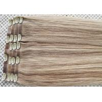 Buy cheap Invisible Seamless Clip In Hair Extensions Remy Human Hair Could Be Flat Ironed / Restyle from wholesalers
