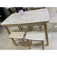 Buy cheap Uniform Texture Oak Dinette Set Good Wear Resistant With Granite Table Top from wholesalers