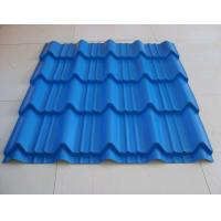 Buy cheap Durable Roman Tile Galvalume Steel Roofing Sheets Blue Prepainted , 1300mm * 420mm from wholesalers