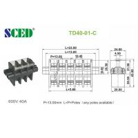 Buy cheap Feed Through PBT Screw Terminal Block Connector 600V 40A  13.00mm from wholesalers
