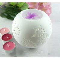 Buy cheap Round Ceramic Candle Burner, Tart Oil Warmer Pure White Aroma Diffuser TS-CB031 from wholesalers