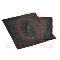 Buy cheap Engineered Woven Geotextile Stabilization Fabric High Tensile Black Color product