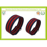 China Ultra Thin 24mm Custom Watch Bands Nylon Red ROHS SGS CE on sale