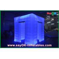 Buy cheap Square Waterproof Inflatable Photo Booth Portable Led Tent 2 Door from wholesalers