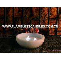 Buy cheap CE / ROHS Flameless LED Pillar Candles , Real  Wax  Floating LED Candle With 3 LEDs from wholesalers