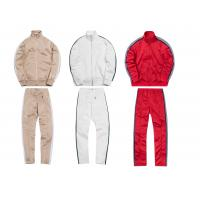 Buy cheap Custom Striped Breathable Mens Sports Tracksuits With Mountaineering Jackets from wholesalers