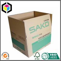 Buy cheap Logo Printed Flexo Color Corrugated Packaging Box; Regular Slotted Cardboard Box from wholesalers