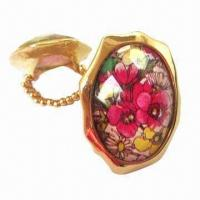 Buy cheap 2012 New Design Fashionable Stretch Rings, Clear Acrylic Bead, Flower-printed from wholesalers