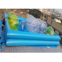 Quality Colorful 1.0MM PVC Water Ball Inflatable Water Parks / Double-layer Inflatable Pool for sale