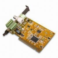 Buy cheap DVR Card with Single Channel Input, Supports CIF Video, MPEG-4 Encoder, and Software Audio Codec product