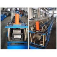 Buy cheap Steel Profile Roll Forming Machine , 444mm Coil Width Gutter Making Machine from wholesalers