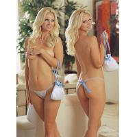 Buy cheap Sexy Latest Gorgeous Sheer Fashionable Knot Personalised Bridal Underwear With OEM ODM from wholesalers