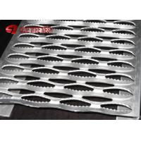 Buy cheap Traction Aluminum Bar Galvanized Steel Grating Stair Treads , Perforated Grip Strut Treads from wholesalers