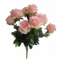 Buy cheap Artificial 12 Head Rose Bush for decoration from wholesalers