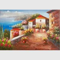 Buy cheap Impressionist Coastline Mediterranean Oil Painting For Living Room Decor from wholesalers