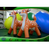 Buy cheap Orange Inflatable Christmas Animals Deer / Inflatable Reindeer 1.2 m High from wholesalers