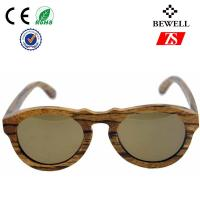 Buy cheap UVB Protection Zebra Wood Sunglasses from wholesalers