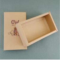 Buy cheap Customized Eco friendly brown Kraft paper folding box slide drawer cardboard paper box from wholesalers